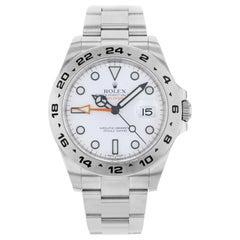 Rolex Explorer II 216570 WSO White Dial Date Steel Automatic Men's Watch