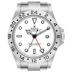 Rolex Explorer II White Dial Parachrom Hairspring Men's Watch 16570