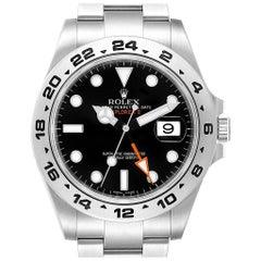Rolex Explorer II 42 Black Dial Orange Hand Men's Watch 216570
