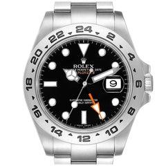 Rolex Explorer II 42 Black Dial Orange Hand Steel Men's Watch 216570