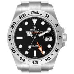 Rolex Explorer II 42 Black Dial Orange Hand Steel Watch 216570 Box Card
