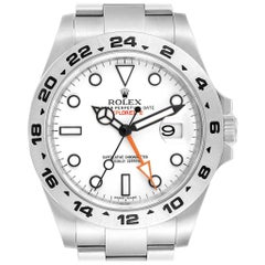 Rolex Explorer II 42 White Dial Orange Hand Steel Men's Watch 216570