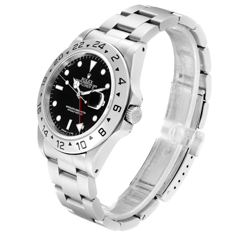 Rolex Explorer II Black Dial Automatic Steel Men's Watch 16570 For Sale 1
