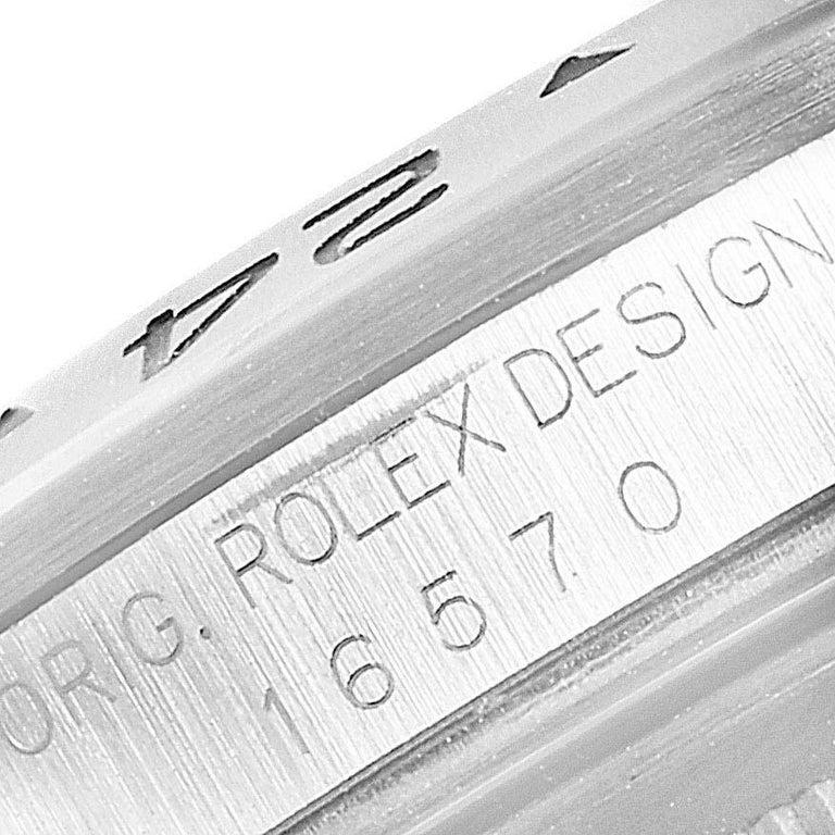 Rolex Explorer II Black Dial Automatic Steel Men's Watch 16570 For Sale 4
