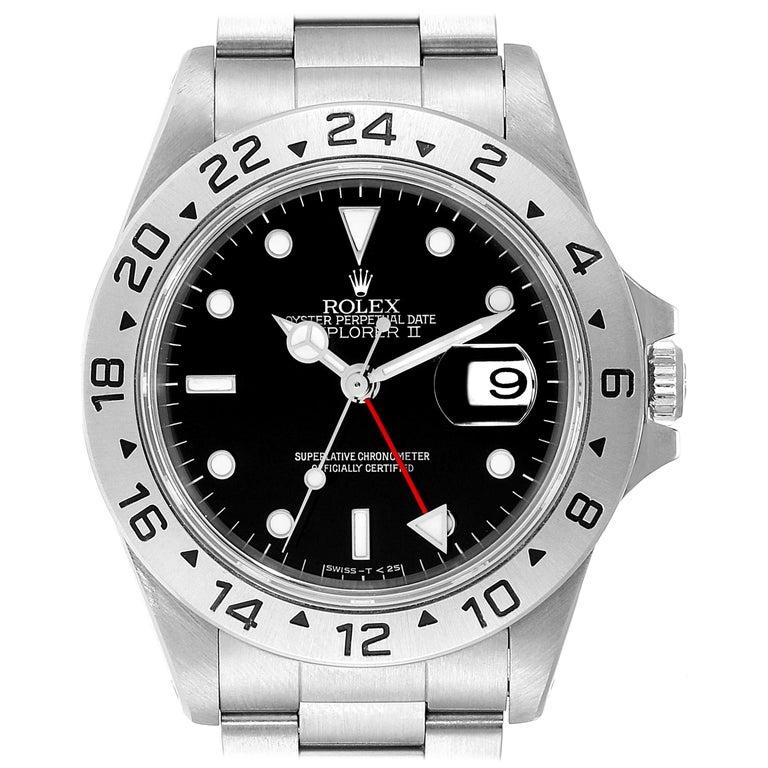 Rolex Explorer II Black Dial Automatic Steel Men's Watch 16570 For Sale