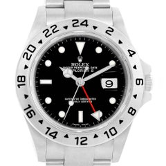 Rolex Explorer II Black Dial Parachrom Hairspring Watch 16570 Box