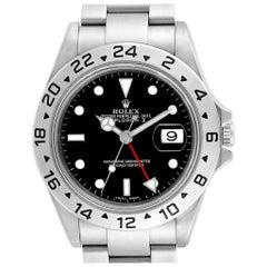 Rolex Explorer II Black Dial Red Hand Parachrom Hairspring Men's Watch 16570