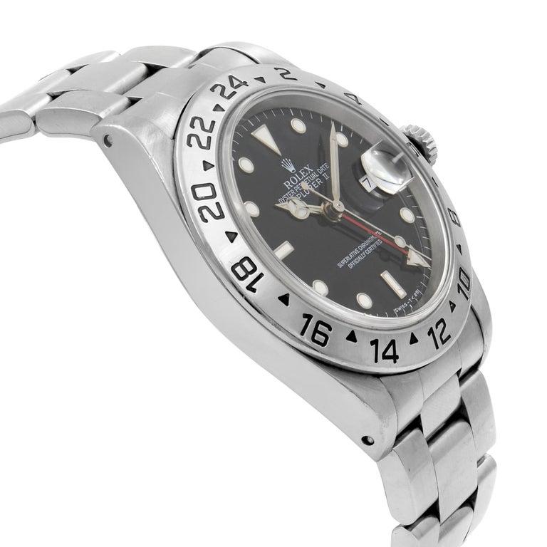 Rolex Explorer II Black Dial Steel Automatic 1998 Men's Watch 16570 For Sale 1