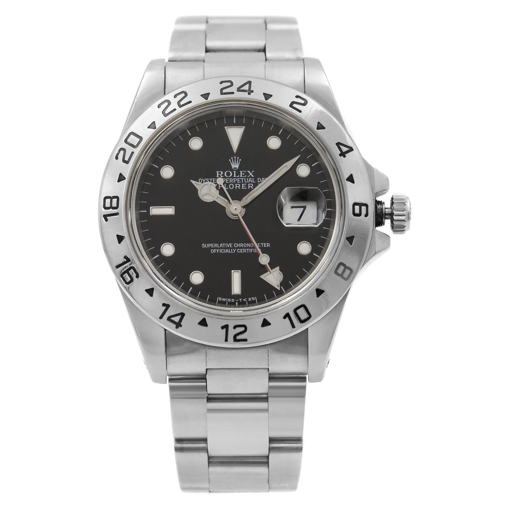 Rolex Explorer II Black Dial Steel Automatic 1998 Men's Watch 16570