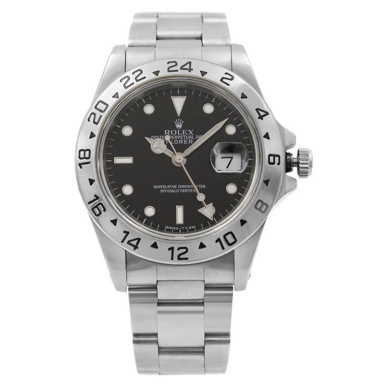 Rolex Explorer II Black Dial Steel Automatic 1998 Men's Watch 16570 For Sale