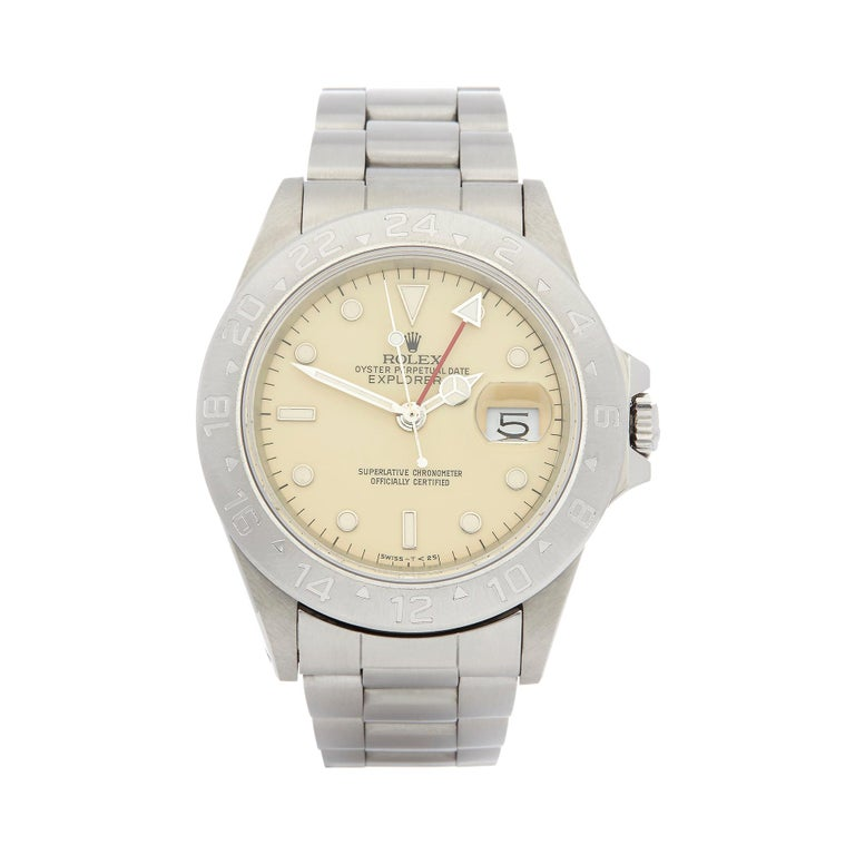 Rolex Explorer II Cream Dial Stainless Steel 16550 For Sale