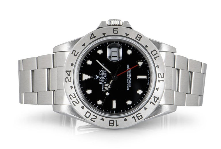 Men's Rolex Explorer II Gents Stainless Steel Black Dial 16570 For Sale