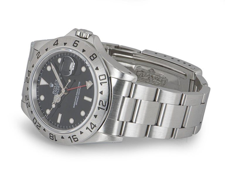 Rolex Explorer II Gents Stainless Steel Black Dial 16570 For Sale 1