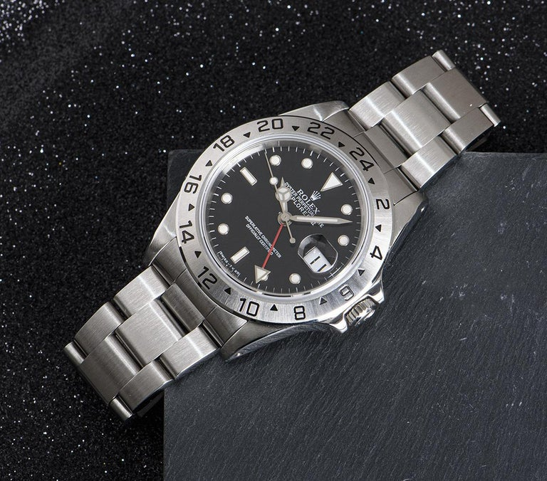 Rolex Explorer II Gents Stainless Steel Black Dial 16570 For Sale 4