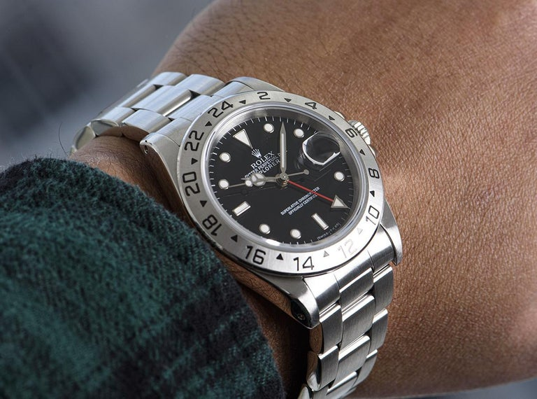 Rolex Explorer II Gents Stainless Steel Black Dial 16570 For Sale 5