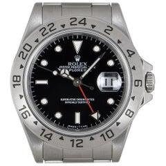 Rolex Explorer II Gents Stainless Steel Black Dial 16570