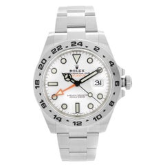 Rolex Explorer II GMT Stainless Steel White Dial Automatic Men Watch 216570