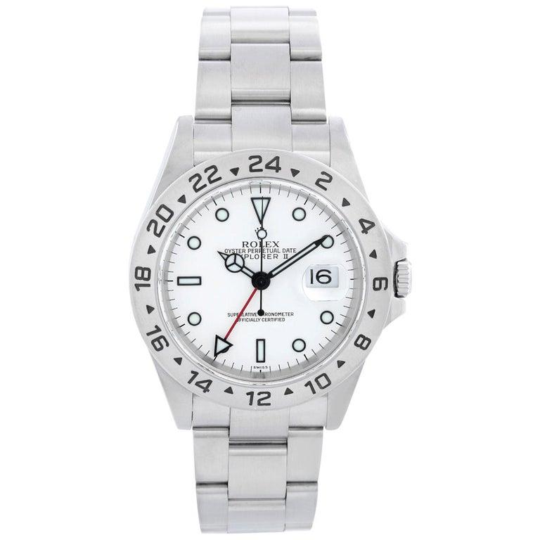 Rolex Explorer II Men's Stainless Steel Watch 16570 For Sale