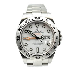 Rolex stainless steel Explorer II Stainless Steel automatic Wristwatch