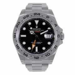 Rolex Explorer II Stainless Steel Black Dial Watch 216570