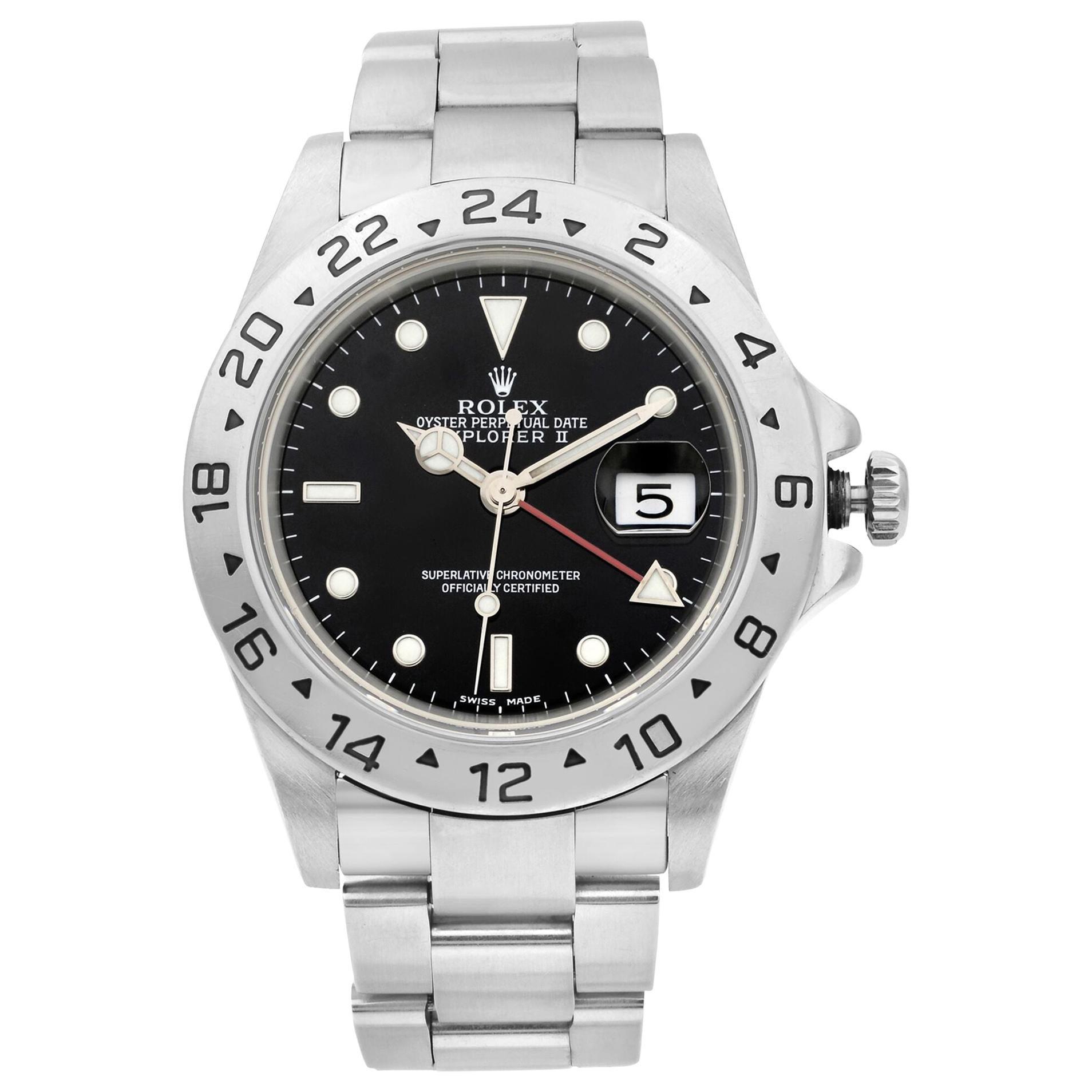 Rolex Explorer II Stainless Steel Black Dial Automatic Men's Watch 16570