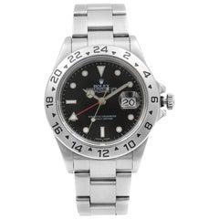 Rolex Explorer II Steel Holes Black Dial Automatic Men's Watch 16570