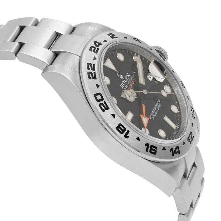 Rolex Explorer II Steel Orange Hand Black Dial Automatic Men's Watch 216570 For Sale 1
