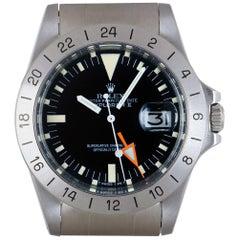 Rolex Explorer II Steve McQueen Vintage Stainless Steel Matte Black Dial 1655