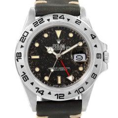 Rolex Explorer II Transitional Tropical Dial Steel Men's Watch 16550