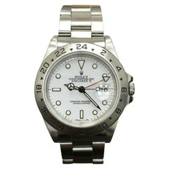 Rolex Explorer II White Dial 16570 Stainless Steel Creamy Patina