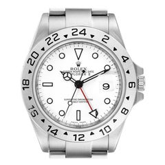 Rolex Explorer II White Dial Parachrom Hairspring Mens Watch 16570