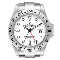 Rolex Explorer II White Dial Steel Mens Watch 16570 Box Papers