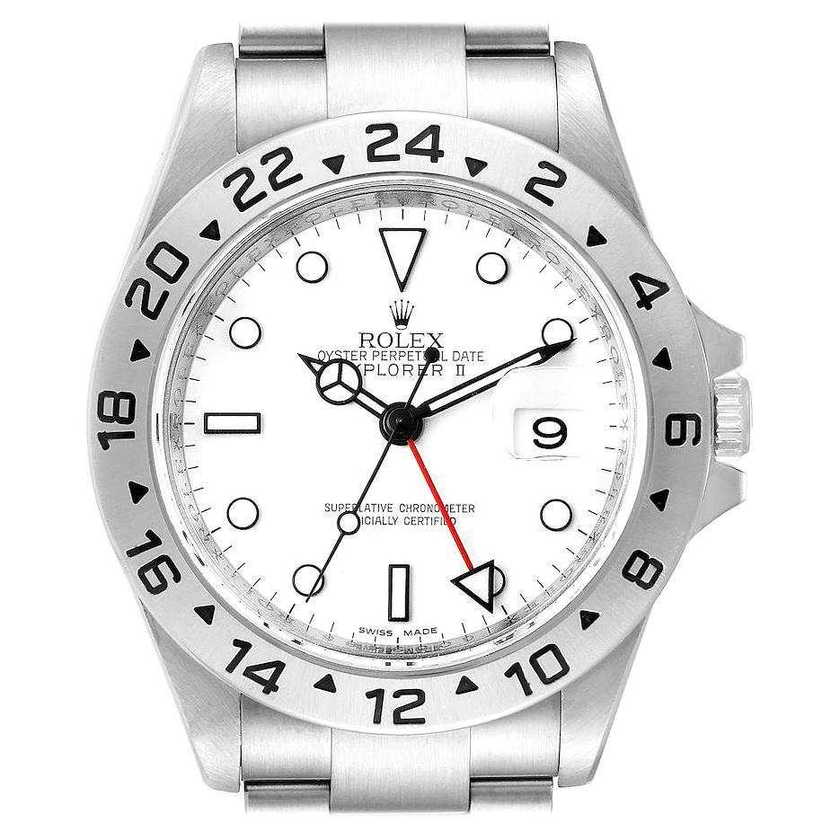 Rolex Explorer II White Dial Steel Mens Watch 16570