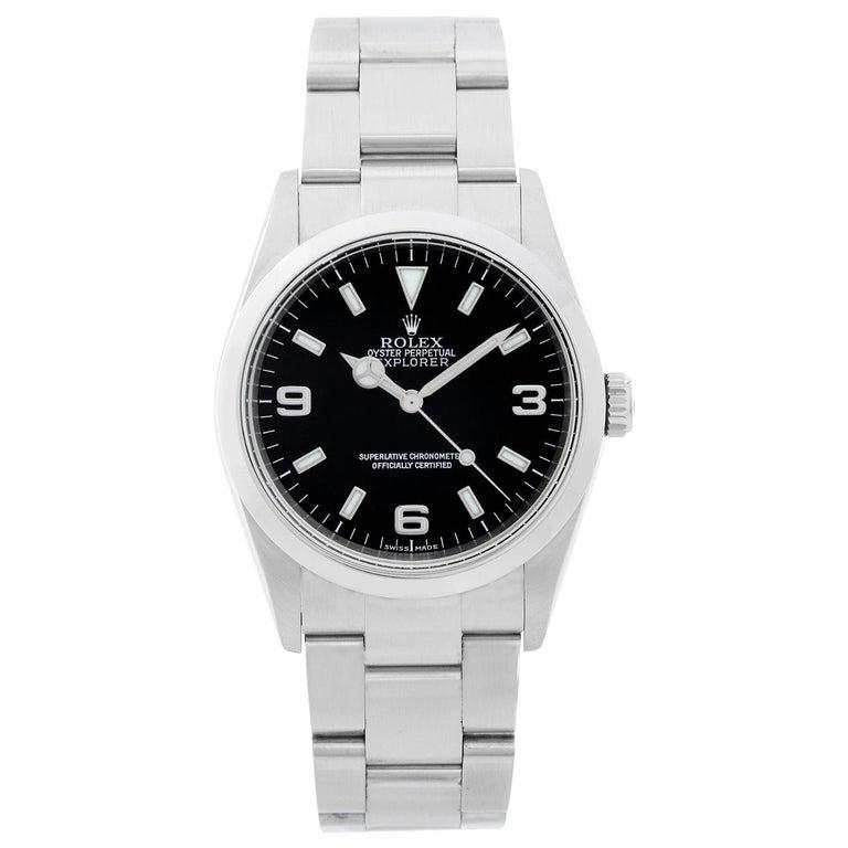 Rolex Explorer Men's Stainless Steel Watch 114270 For Sale