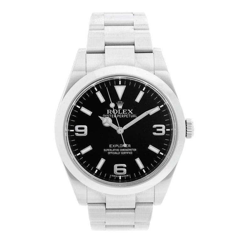 Rolex Explorer Men's Stainless Steel Watch 214270 For Sale