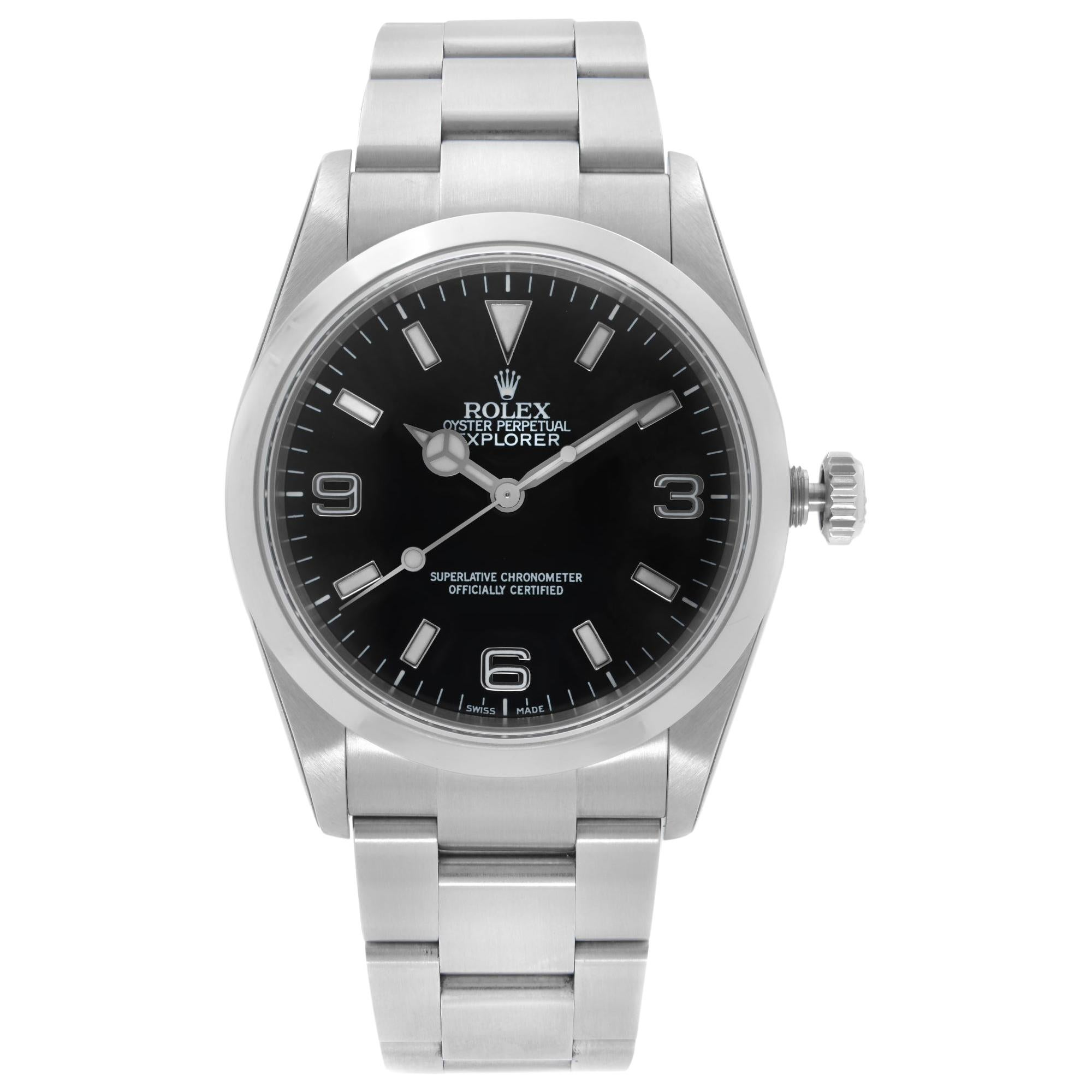 Rolex Explorer Stainless Steel Black Dial Automatic Men's Watch 114270