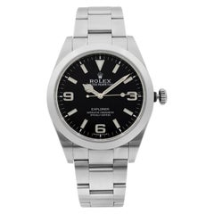 Rolex Explorer Steel Luminous Black Dial Automatic Men's Watch 214270