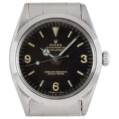 Rolex Explorer Vintage Gents Stainless Steel Tropical Dial 1016