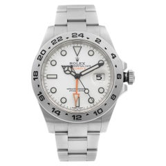 Rolex Exporer II GMT Stainless Steel White Dial Automatic Men's Watch 216570