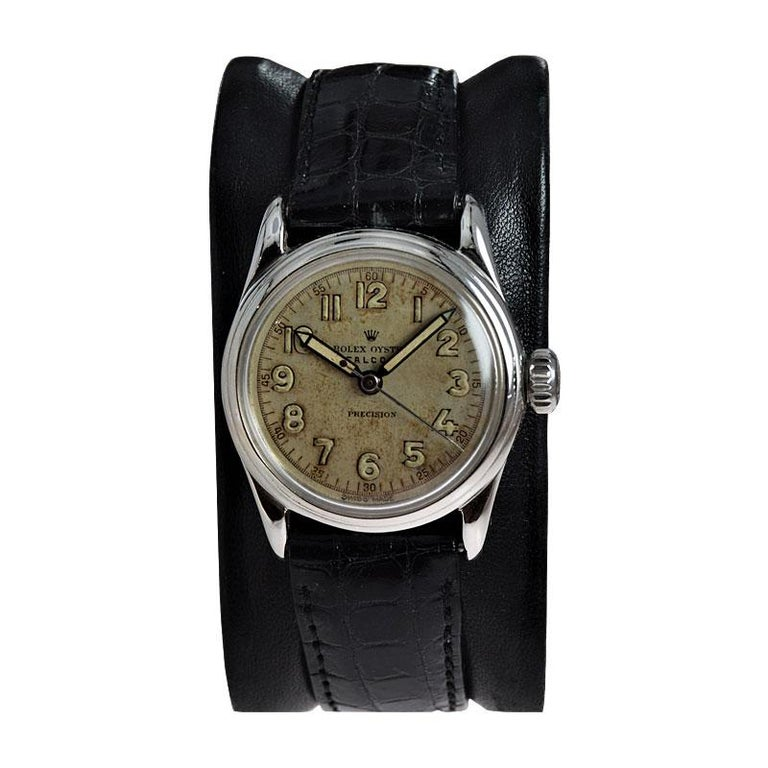 Rolex Falcon Stainless Steel with Original Dial and Hands from 1944 or 1945 For Sale 1