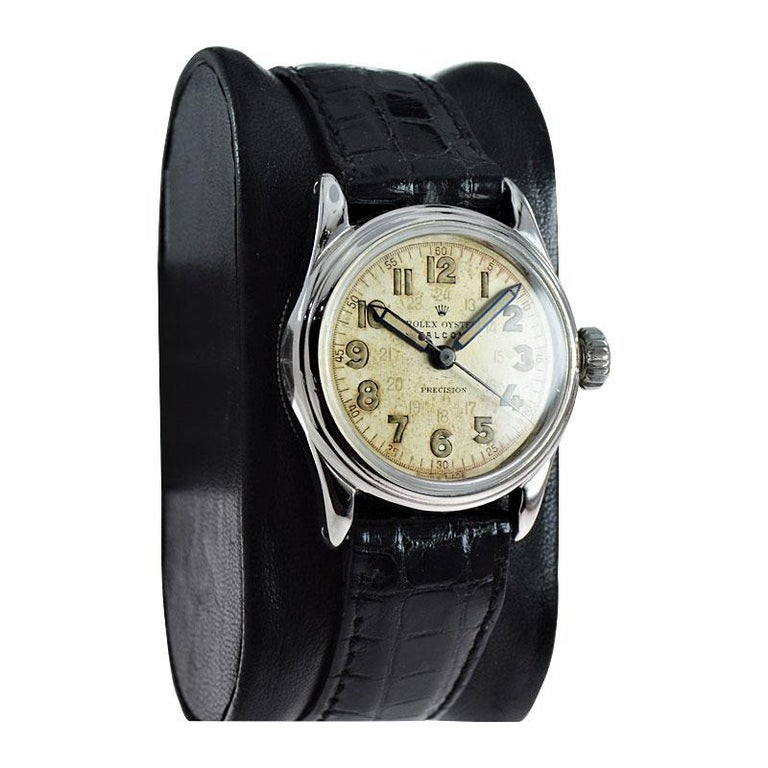 Rolex Falcon Stainless Steel with Original Dial and Hands from 1944 or 1945 For Sale 2