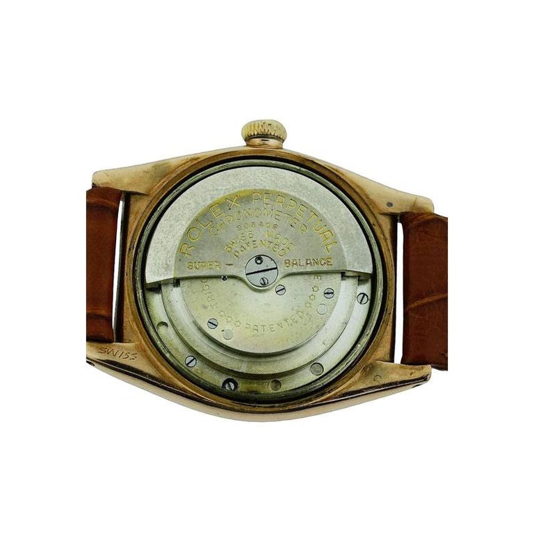 Rolex Gold and Steel Tropical Series with California Romabic Dial from 1940s For Sale 5