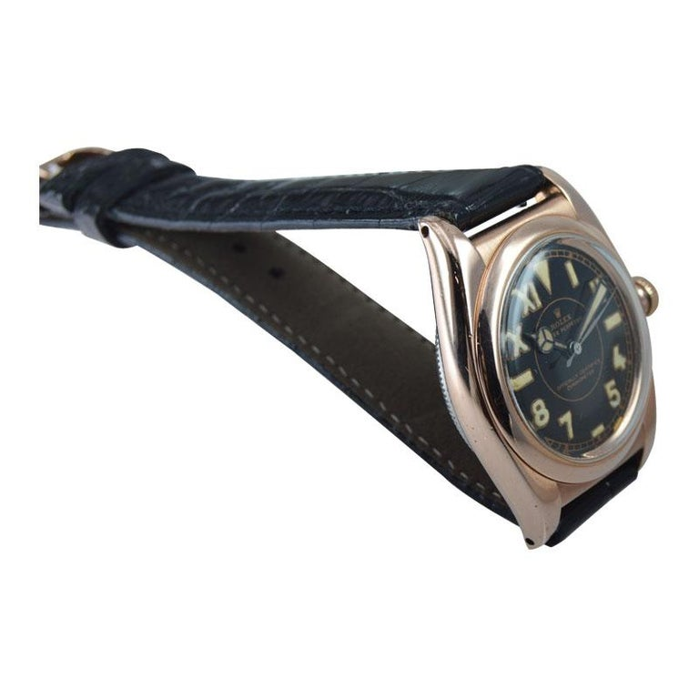 Rolex Gold and Steel Tropical Series with California Romabic Dial from 1940s For Sale 1