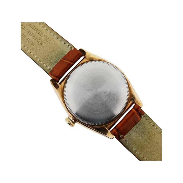 Rolex Gold and Steel Tropical Series with California Romabic Dial from 1940s For Sale 4