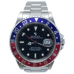 Rolex GMT Master 16700 Pepsi Red and Blue Stainless Steel Box and Papers Mint