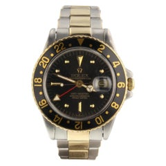 Rolex GMT Master 1675, Black Dial, Certified and Warranty