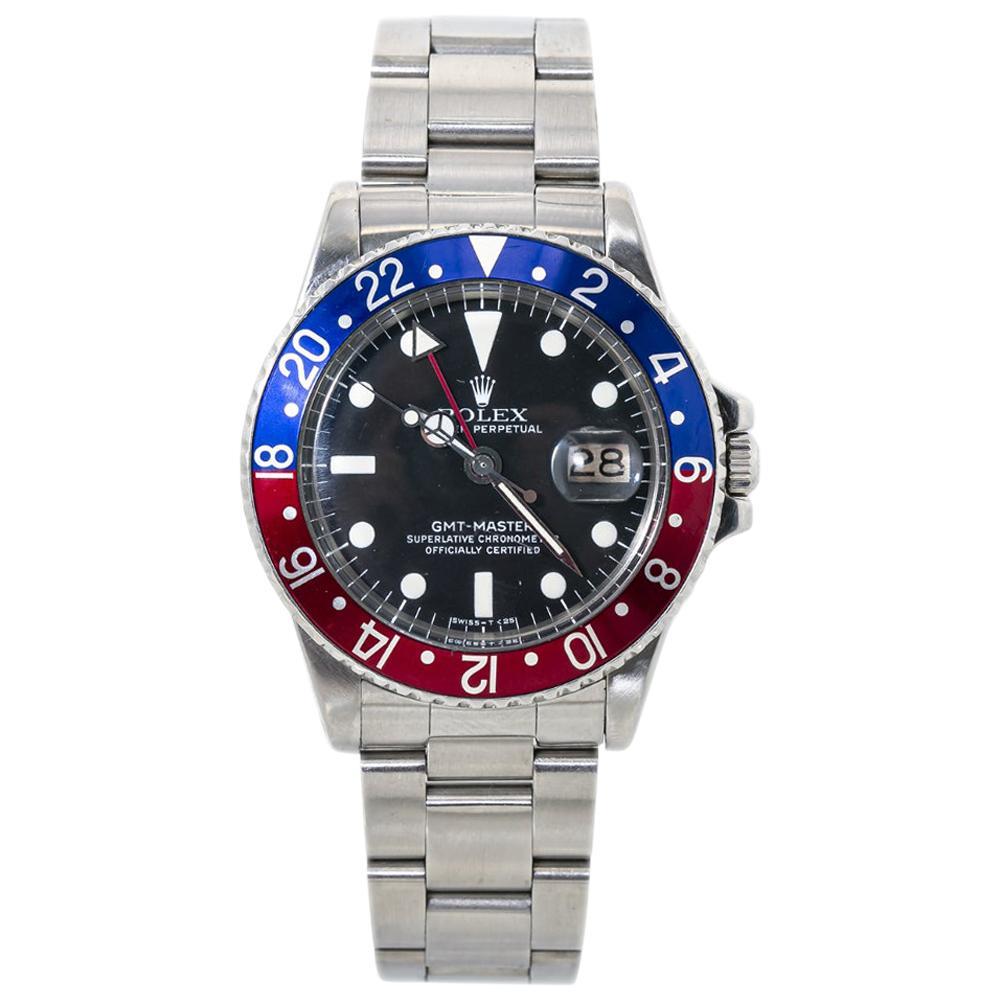 Rolex GMT Master 1675 Mark V 5 Vintage Pepsi Automatic Mens Watch