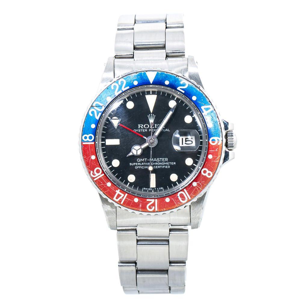 Rolex GMT Master 1675 Mark V Vintage Pepsi Automatic Mens Watch