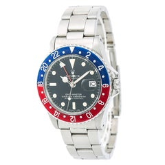 Rolex GMT-Master 1675 Men's Automatic Watch Pepsi Matte Black Dial Stainless