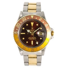 Rolex GMT-Master 1675 Root Beer Men's Automatic Vintage Watch Nipple Dial